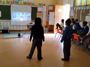 VIDEO:  2014.10.30 Temperance Town Primary Grade 1 Xbox lesson