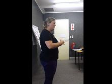 VIDEO:  2014 10 10 Bianca presenting