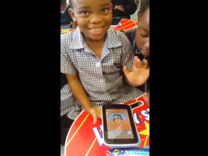 VIDEO: Nogqaza Primary squeaks of delight from first time user